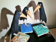 Ravens on Pedestal