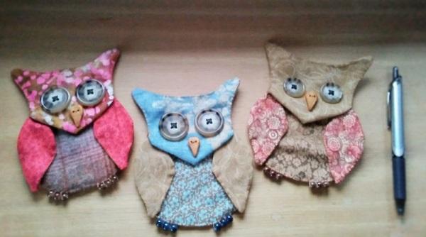 3 owl pouches